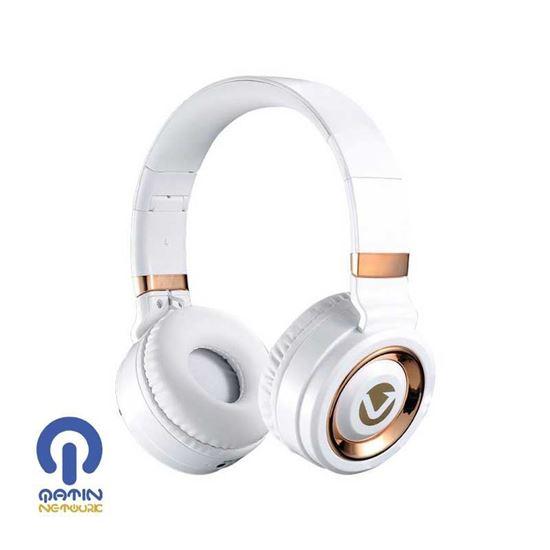 Volkano Lunar series headphones-VK-2004-WTGD - White/ Gold