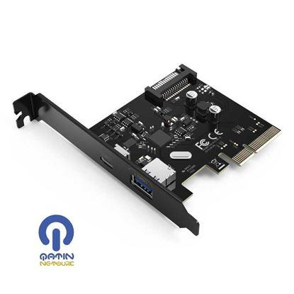 کارت PCI-E اینترنال 2 پورت USB 3.1 با پورت Type-C مدل ORICO PA31-AC